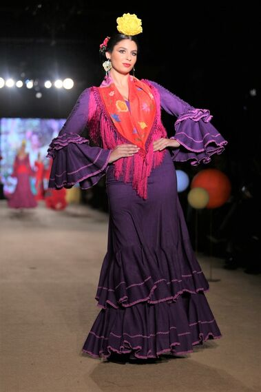 Flamenca Pol Núñez, fotos del desfile en We Love Flamenco 2019
