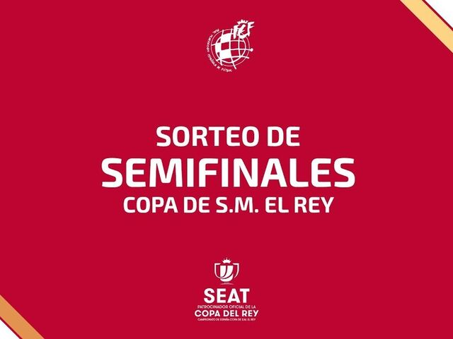 Siga en directo el sorteo de semifinales de la Copa del Rey