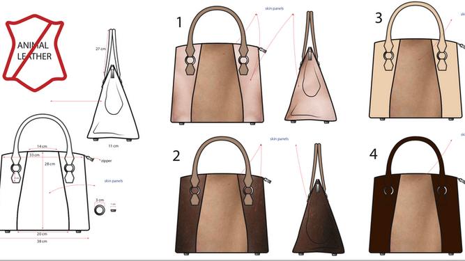 El diseño de la mujer para su bolso   Sewport ceb42c36931