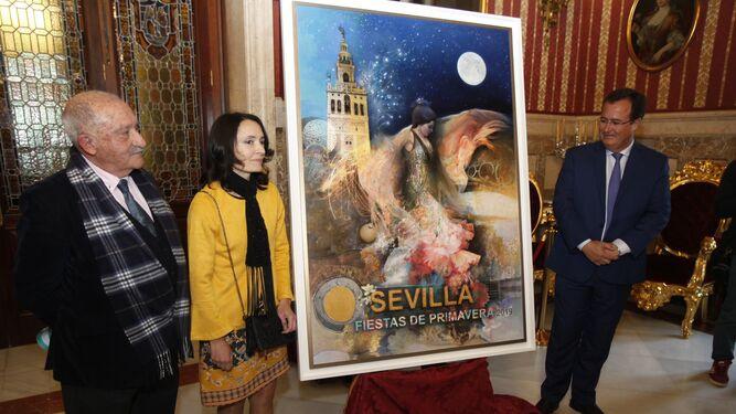 super popular afed7 5ac83 El profesor Huguet, Isabel Sola y Juan Carlos Cabrera tras presentarse el  cartel.