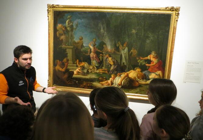Adultos y niños podrán disfrutar del formato Cara a Cara en la exposición 'Arte y mito. Los Dioses del Prado'.