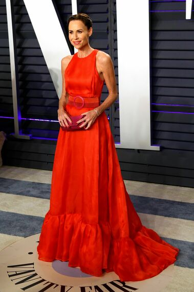 <p>Minnie Driver, de Carolina Herrera</p>