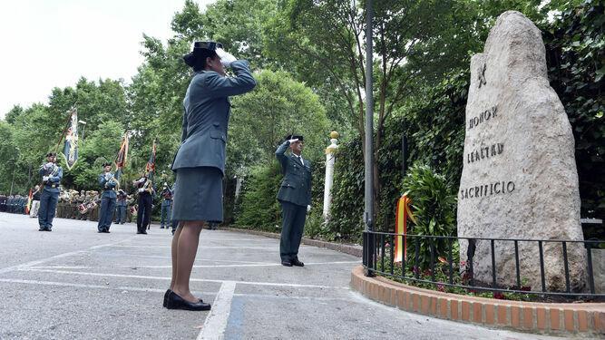 Una agente de la Guardia Civil, en un acto en Eritaña