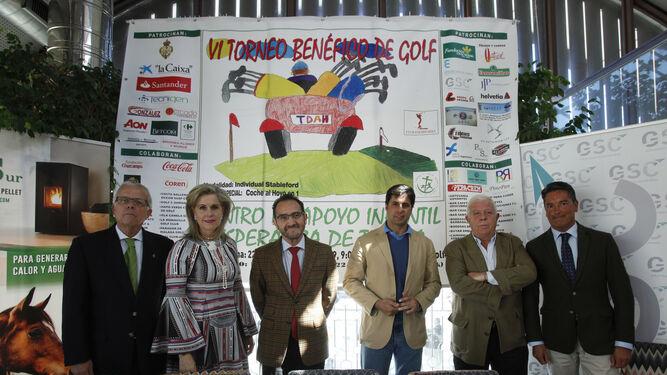 Rodríguez, Guisado, De Julios, Rivera, Jadraque y Bustos en la presentación del torneo.