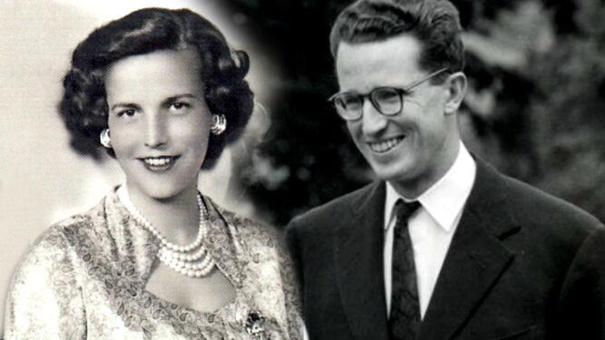 La princesa Lilian y su hijastro, el rey Balduino de Bélgica.