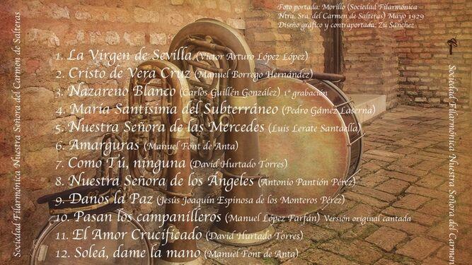 """Contraportada del disco """"Carmen"""""""