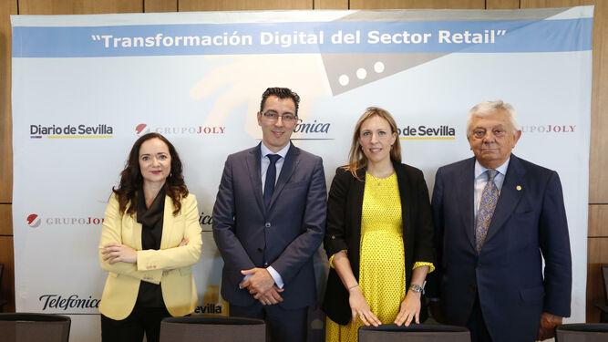Magdalena Trillo, Joaquín Segovia, Lorena Garrido y Francisco Herrero.