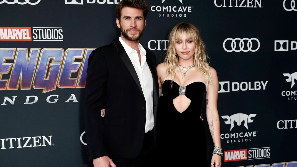 <p>Liam Hemsworth y Miley Cyrus</p><br>