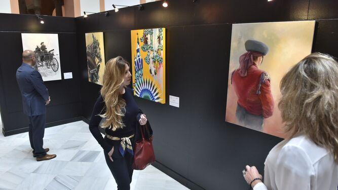 Exposición de carteles de la 34 Exhibición de Enganches en el Ayuntamiento de Sevilla.