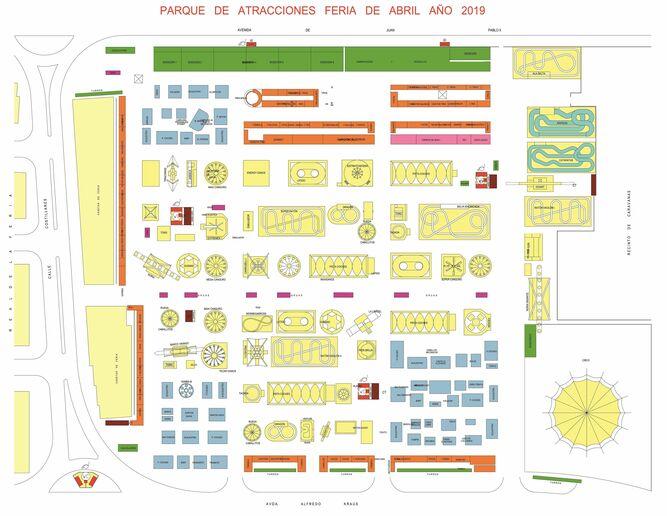 Mapa Feria Sevilla 2019.Feria De Sevilla 2019 Precios Y Atracciones De La Calle Del