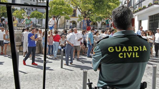 Un guardia civil en Estepa.