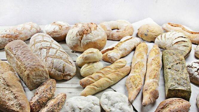 Surtido de panes de la panadería Crustum
