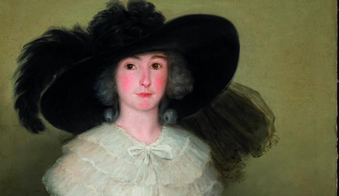 Un detalle del retrato de Ramona de Barbachano