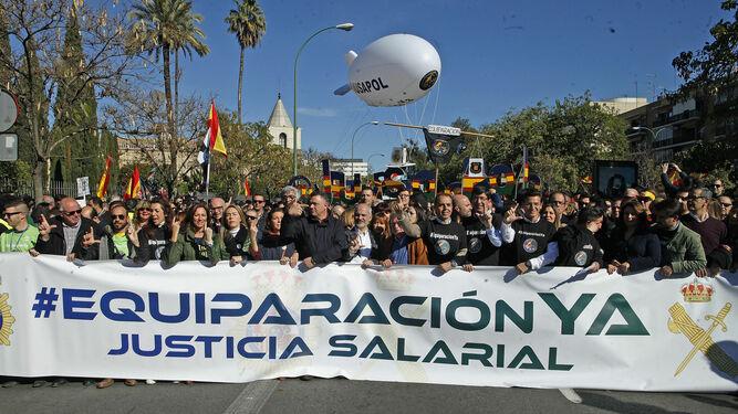Manifestación de Jusapol en Sevilla.