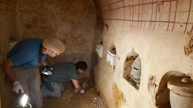 Tumba romana hallada en Carmona.