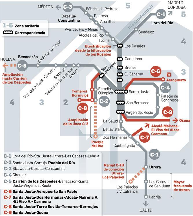 El Mapa De Cercanias De Sevilla Puede Mejorar Ocho Propuestas A