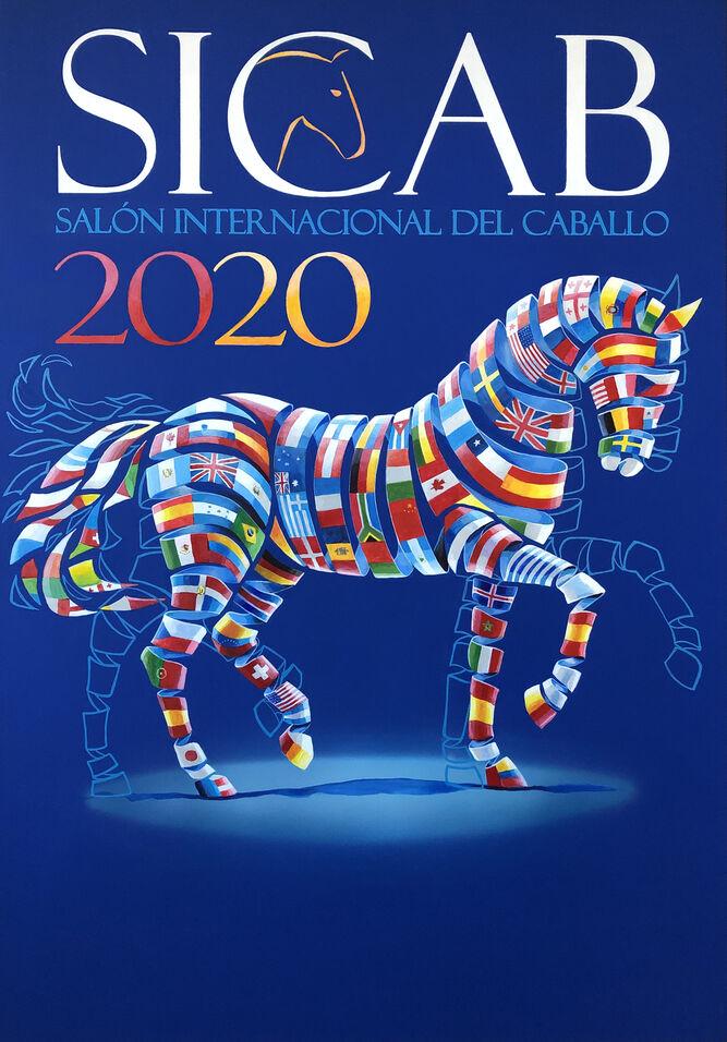 Cartel de Sicab 2020, obra de Ángel García Palacio.