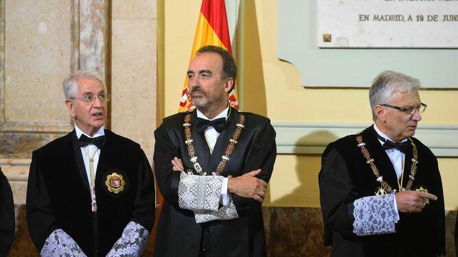 El juez Manuel Marchena, en el acto de apertura del año judicial en la sede del Tribunal Supremo.