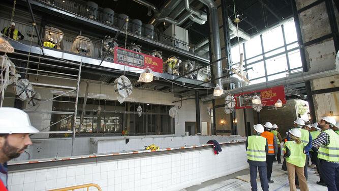 En la imagen se puede observar las obras en la nueva fábrica que acogerán estas instalaciones.