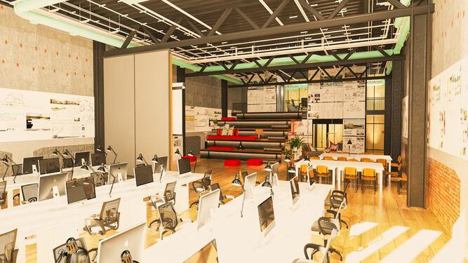 El nuevo auditorio de la Fundación Cruzcampo.