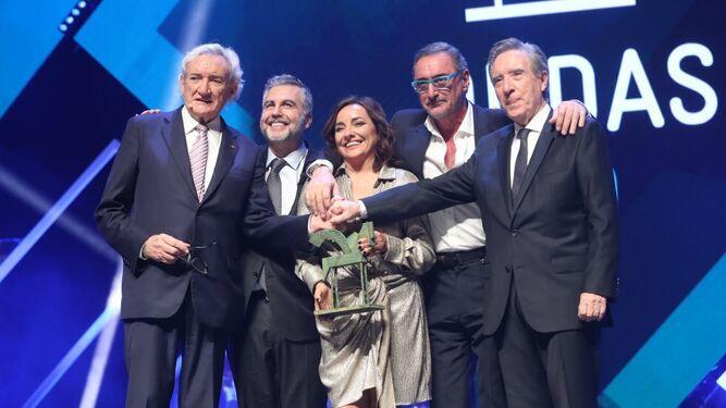 Una foto histórica: Del Olmo, Alsina, Bueno, Herrera y Gabilondo