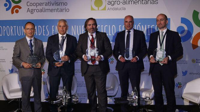 Fulgencio Torres, Fernando Córcoles. Alberto Grimaldi, Enrique Colillas y José Luis Molina. en I Foro del Cooperativismo