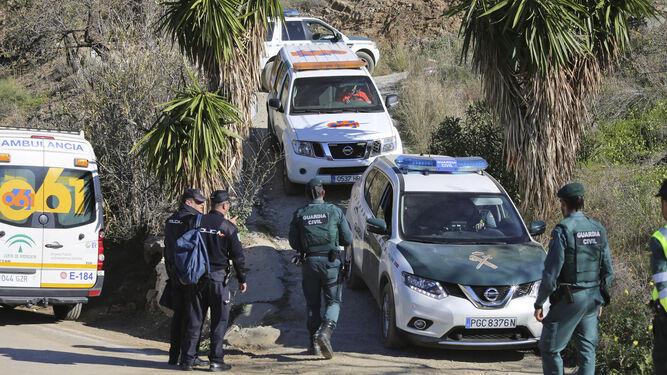 Policías nacionales y guardias civiles, en una intervención conjunta.