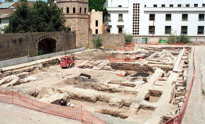 Estructuras que se encontraron en el solar de las antiguas herrerías.