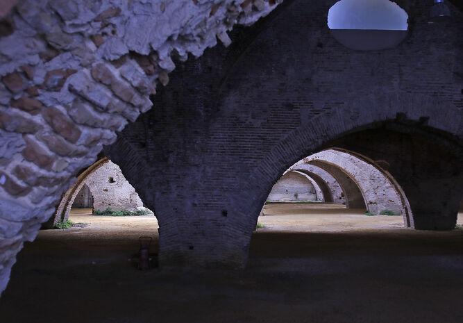 El interior de las Atarazanas.
