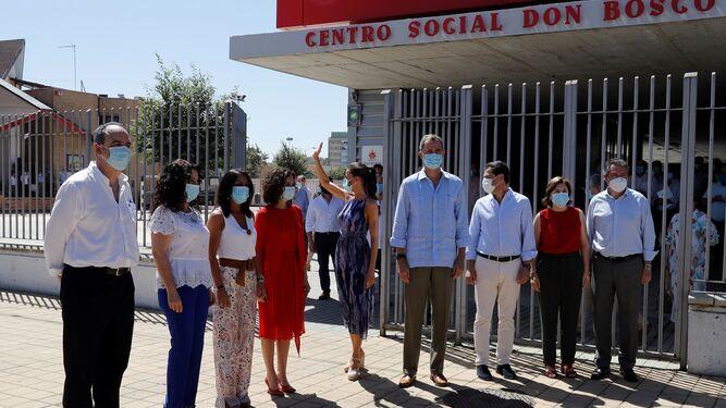 Los Reyes a la entrada del centro social Don Bosco, en el Polígono Sur