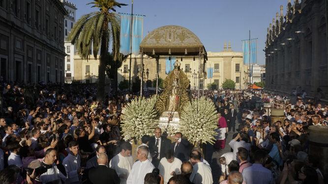 La procesión de la Virgen de los Reyes del año pasado.