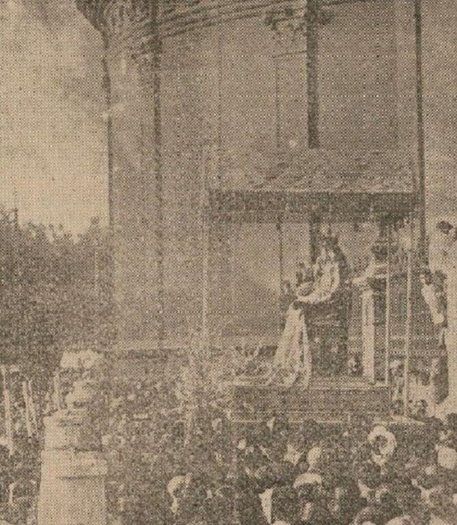La salida de la Virgen en 1931.