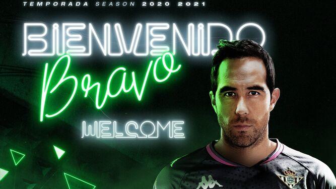 Imagen del anuncio oficial del fichaje de Claudio Bravo.