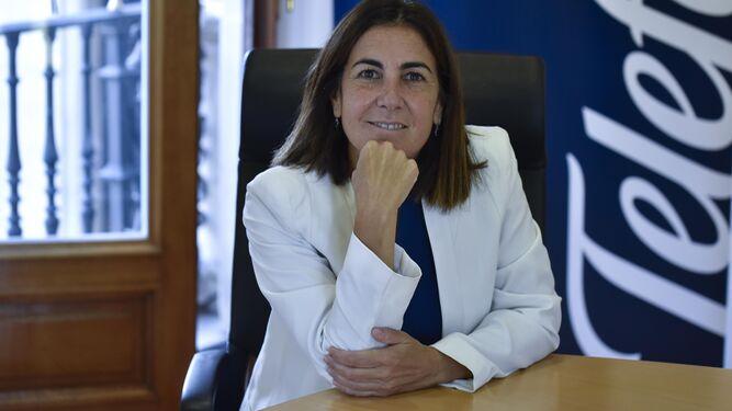 María Jesús Almazor posa para la entrevista.