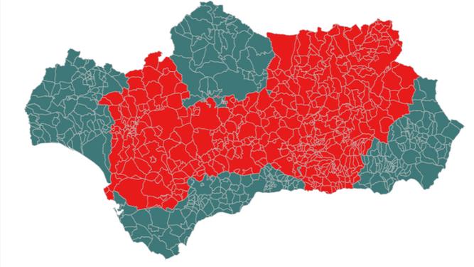 Listado completo de los municipios confinados en Andalucía