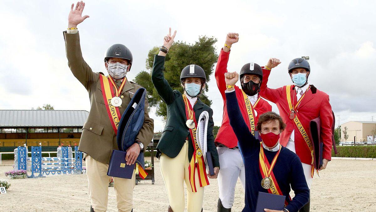 El equipo Madrid Azul de la infanta doña Elena, logró la medalla de oro.