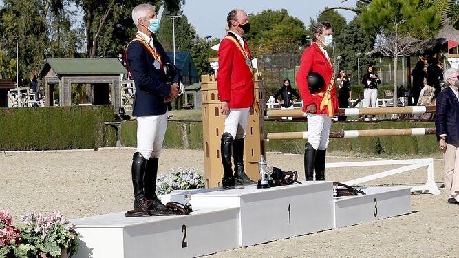 Uno de los podios del campeonato de España de Veteranos
