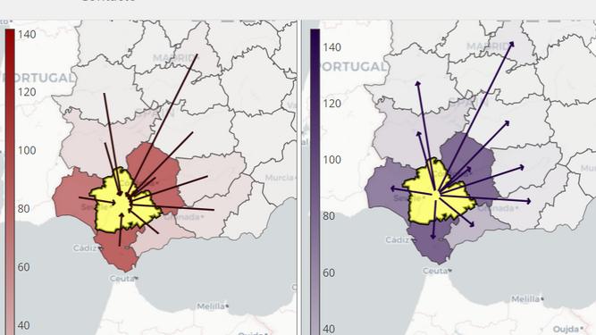 Una herramienta calcula la relación entre movilidad y riesgo de propagación del coronavirus