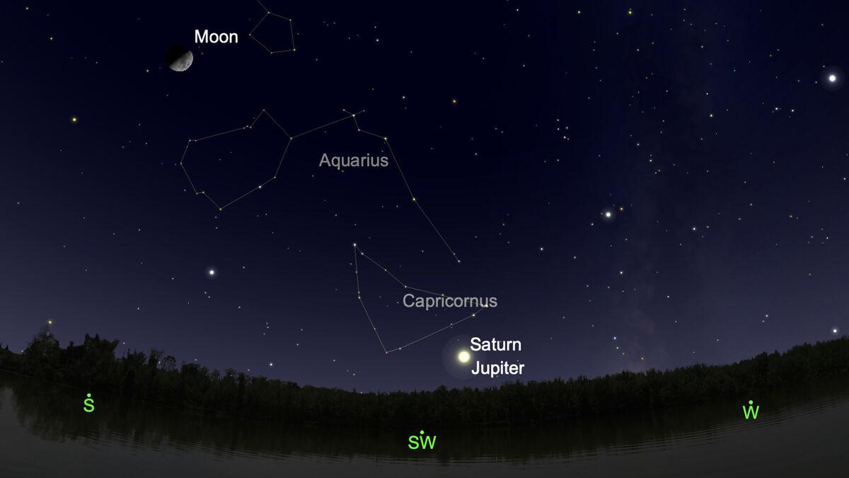 No te pierdas la histórica gran conjunción planetaria de Saturno y Júpiter este lunes 21 de diciembre