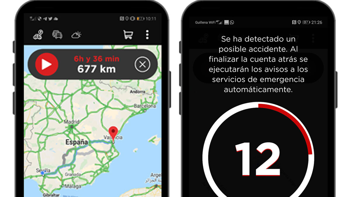 Una captura de la app en un móvil.