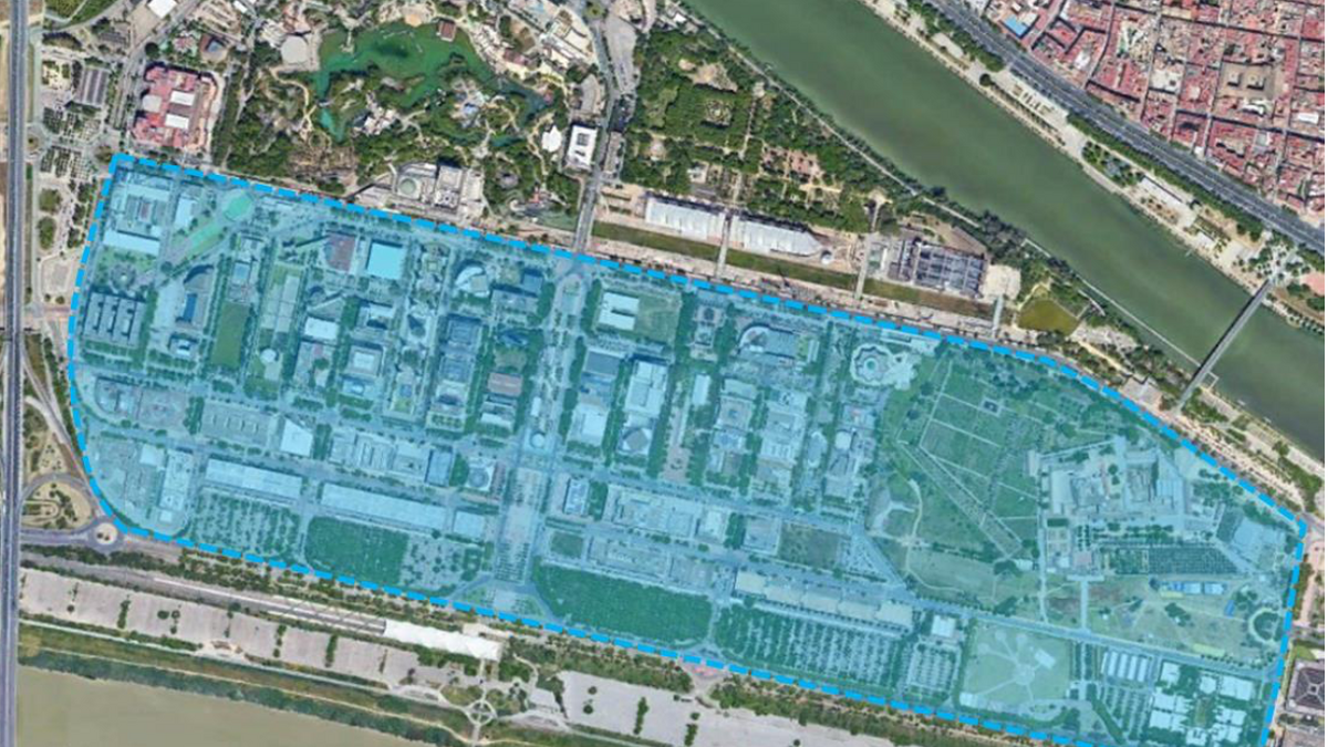 El área sombreada muestra la futura zona de bajas emisiones.