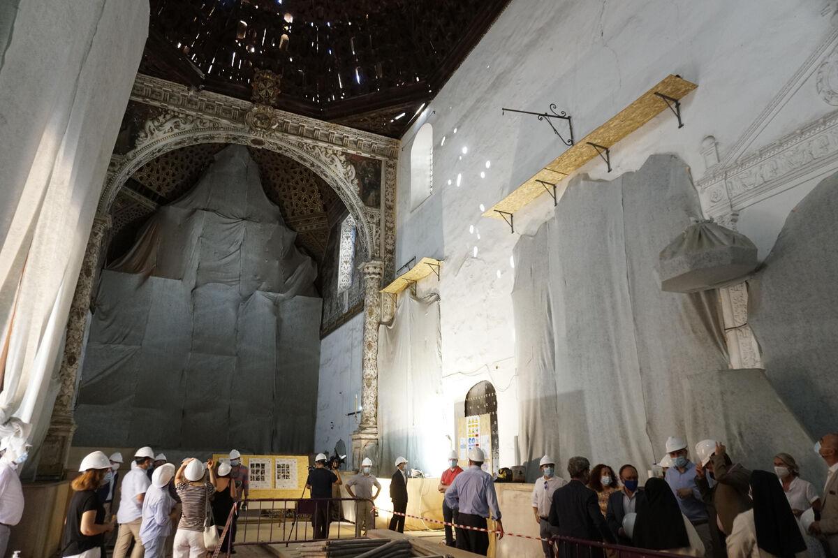 La iglesia del convento de Madre de Dios en obras.