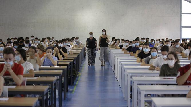 Exámenes de Selectividad en la Universidad Pablo de Olavide, el pasado año.