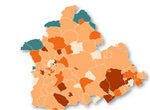 Mapa Coronavirus Sevilla: la provincia tendrá casi 40 municipios confinados este fin de semana
