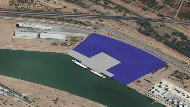 El Puerto de Sevilla adjudica el concurso para la nueva terminal en la dársena de El Cuarto