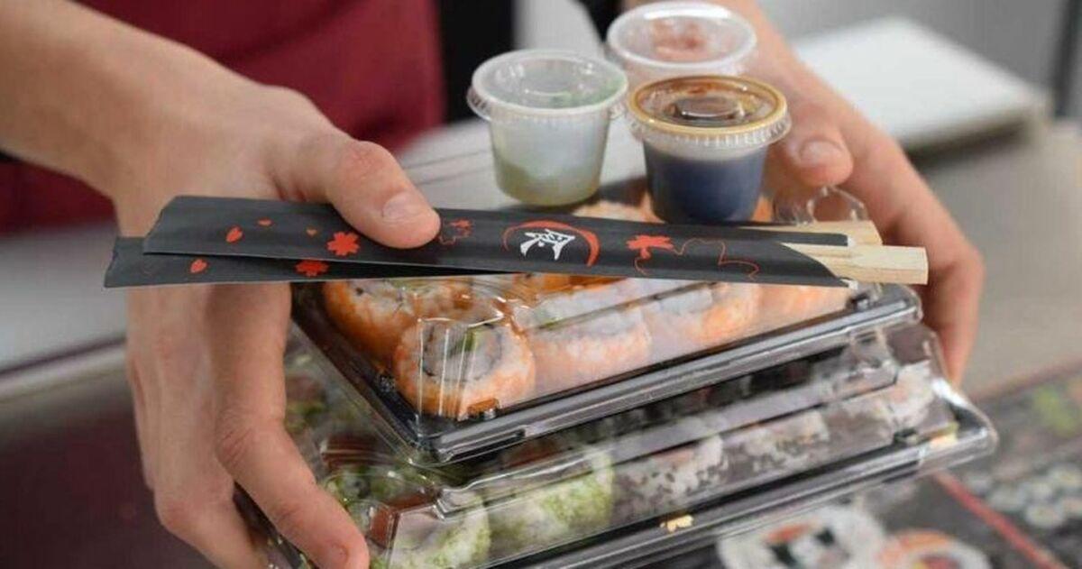Sushi para llevar.