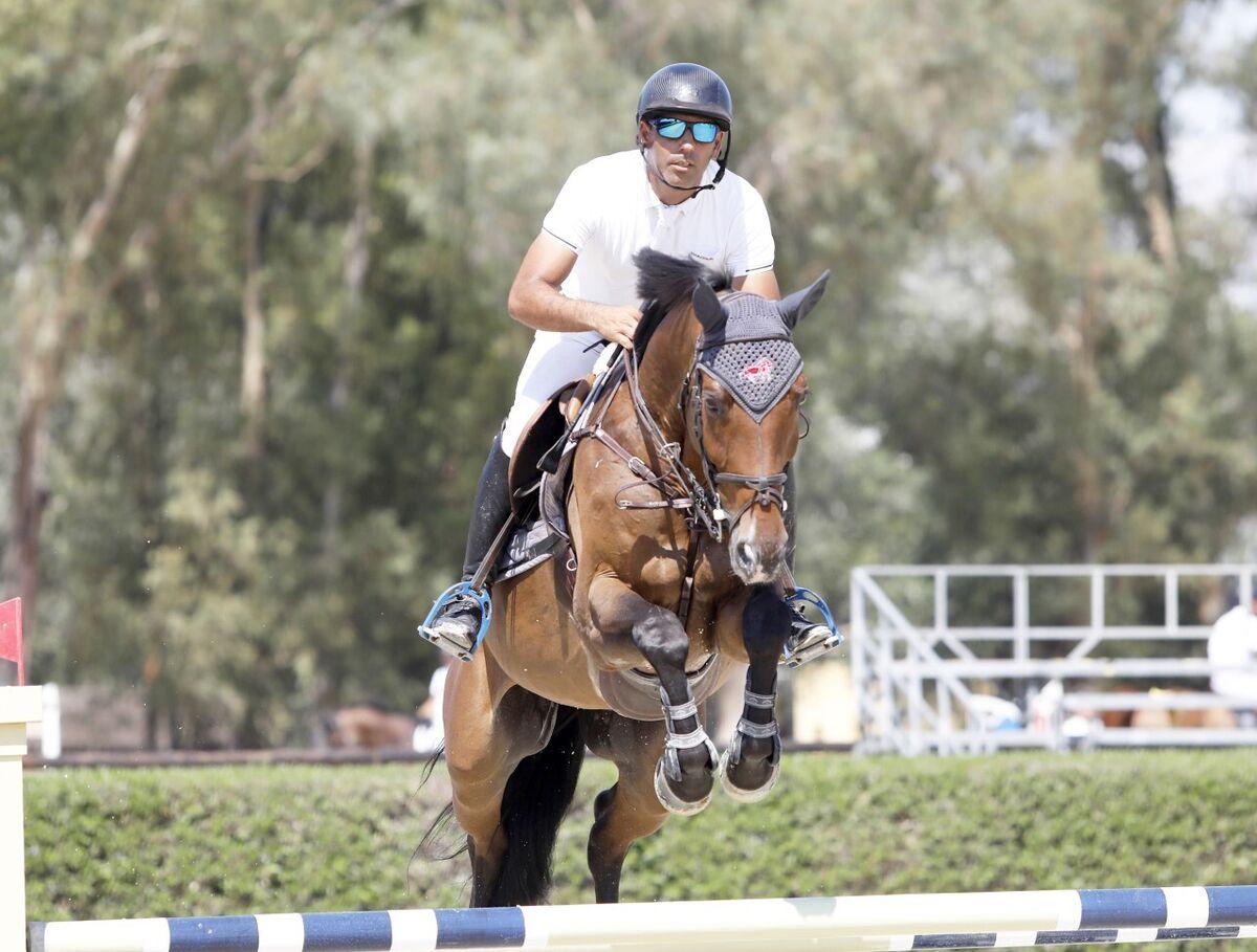 Mariano Martínez Bastida, con Clearton, vencedor de 1.40.