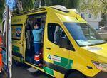 Cuatro heridos en una colisión entre tres turismos en Lebrija