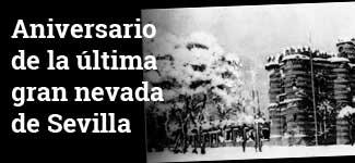 Aniversario de la última nevada de Sevilla